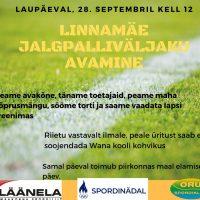 Linnamäe jalgpalliväljaku avamine!