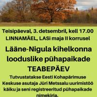 Lääne-Nigula kihelkonna looduslike pühapaikade teabepäev